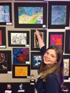Em at art show
