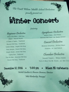 Christmas Orchestra Concert Program