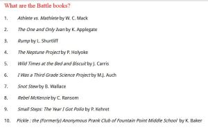 Battle of the Books list 1