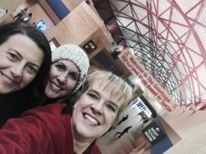 A quick selfie with my two running buddies Traci Bear and Sherri Daniel at the Cowtown Half Marathon 2015. First race we have run right after an ice storm!