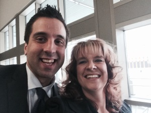 Never miss a chance to take a selfie with George Couros. He is the #selfieking! If you haven't seen his TEDtalk on #OurVoice you must!!!