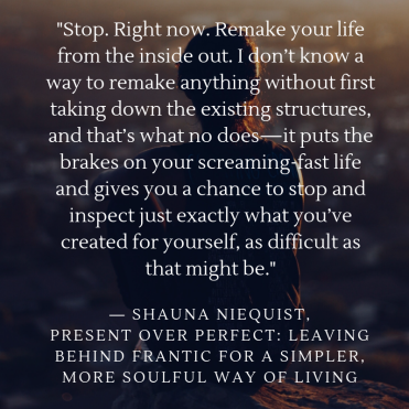 "May 20, 201854 THOUGHT-PROVOKING QUOTES FROM PRESENT OVER PERFECT BY SHAUNA NIEQUISTEver working woman should read Present over Perfect.Here are the quotes i like_""Stop. Right now. Rem"